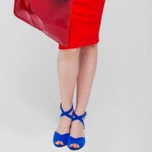 American Apparel Blue Scallop-Edge Heels